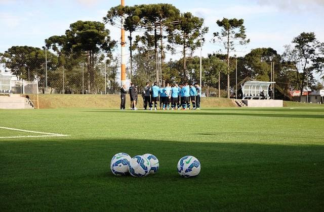 Essa foi a distância entre o Grêmio e o Futebol no Paraná. Foto Lucas Uebel-Grêmio Oficial