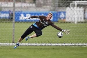 Douglas, novo goleiro do Grêmio até o fim da temporada. Foto: Lucas Uebel/Grêmio Oficial