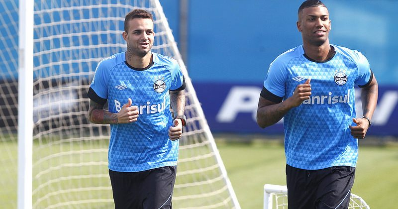 Luan e Walace. Foto: Rodrigo Fatturi/Grêmio Oficial (via Flickr)