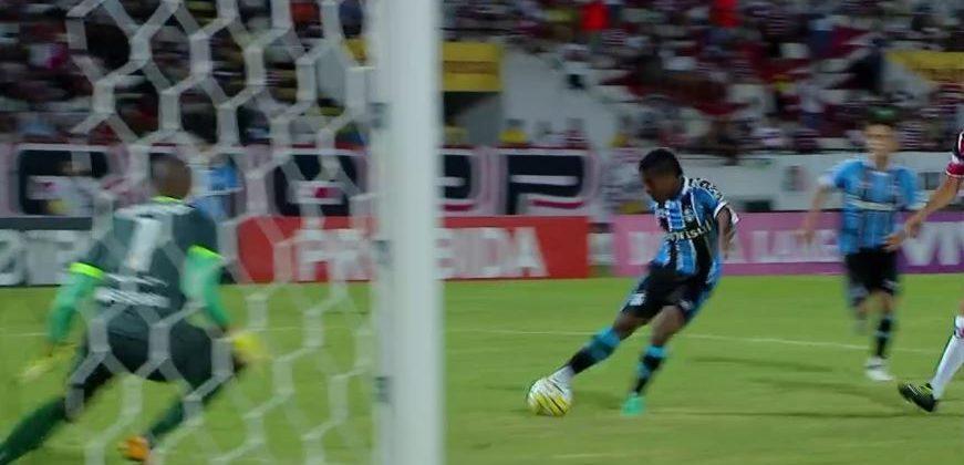 MIller faz seu sexto gol na temporada. Foto: Frame da transmissão (Globo/SporTV)